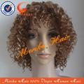 Curtos e encaracolados 30# 613# com destaque cabelo humano peruca cheia do laço, jerry curly 100% não transformados masculina peruca de cabelo natural