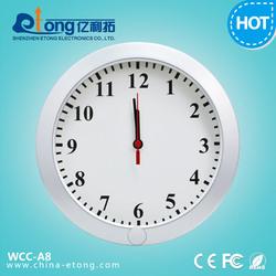 720p wall clock security camera system