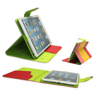 Pu leather case for ipad mini with 5 colors and stand function
