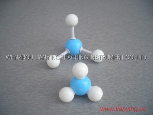 NH3 Ammonia-Molecule structure model Molecular