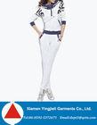 Fashion Design Cheap Polyester White Tracksuit Jogging Suit Wholesale