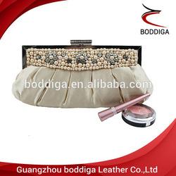 Gold handmade bead bag lady purse cheap lady bag #03604-2