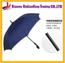 Curved Handle Umbrella Fiberglass Windproof Umbrella Vintage Umbrella