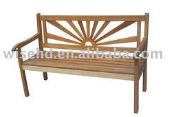 W-B-1230 outdoor oak wood bench