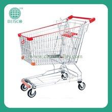 zinc with epoxy Asian Supermarket handle Cart