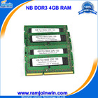 Old computer brands RAM MEMORY ddr3 pc3-10600 4gb for laptop