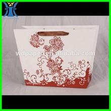 Yiwu 2015 New Arrived handmade craft decorative custom printed coated paper Shopping bag Hot popular custom packaging paper bag