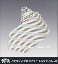 men's stripe silk pleated necktie