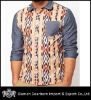 latest fancy contrast sleeve and collar shirt designs for men