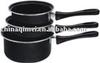 carbon steel /iron milk pot/saucepan non-stick