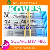 dental bur 2 flutes square end mill for tools cut machine