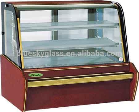 10mm+4mmฉนวนอารมณ์เค้กตู้โชว์กระจกในการขายร้อน