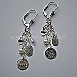 fashion charms earring with back letter word