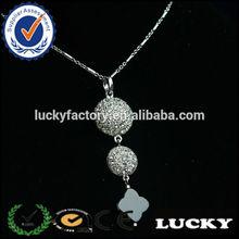 New arrival sparkle women decorated chandelier designs trendy necklace