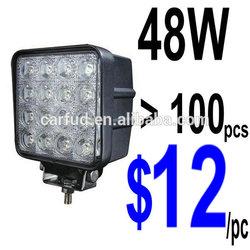 Wholesale 12V 24V Offroad Bowfishing Tractor SUV Marine Lights IP68 Super Bright 48W LED Work Lights