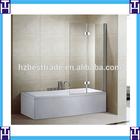 HTSE-8702C 8mm tempered glass hinge door shower screen for bath tub