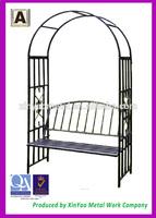 Garden arch Metal pergola Wrought iron pergola Metal garden arch with bench AH09008