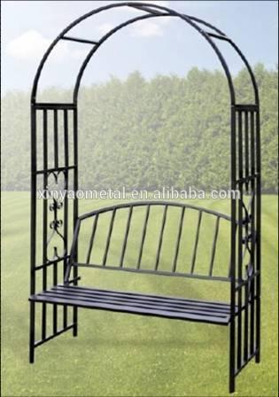 Jard n arco de metal p rgola de hierro forjado p rgola for Arcos para jardin
