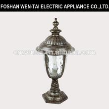 110V Decor Water Glass Garden Gate Lamp Post In Aluminum