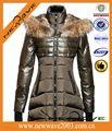 Áo khoác mùa đông cho phụ nữ ducati Windproof với cổ áo lông thú