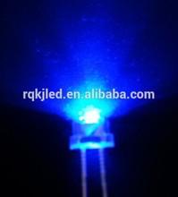 5MM led diode ,1000PCS 20MA 0.06w,5MM straw hat dip blue led diode