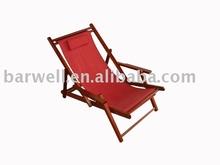 De madeira dobrável cadeira de praia