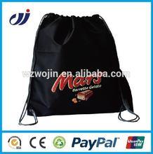 black nylon drawstring gym sack pack empty sack wholesale gift bags