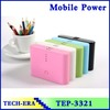 bread power bank 20000mAh mobile power charger usb power packs with cable