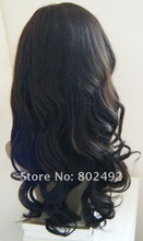 No shedding fast delivery fashionable long curly brazilian human hair wig full lace wig