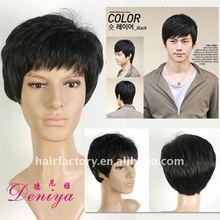 Men toupee with short hair , human hair women toupee