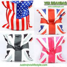 full printed beanbag ,digital printing beanbag,giant British flag beanbag cushion