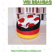 420D polyester round football bean bag chair ,bean bag lap desk