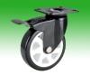 Black Lacquer Cheap High quality Dual Brake Heavy duty Caster Wheels