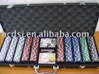 500 Casino chips in Aluminium case