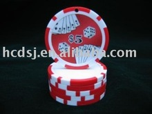 Nice sticker poker chip