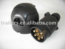 7 pin socket and 7 pin plug for Trailer light system