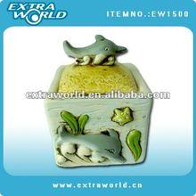 ceramic cupcake fish cookie jar