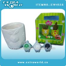 clay ceramic flower pot/DIY flower pot/painting pot