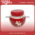 De cerámica del reno de la navidad de la galleta tarro