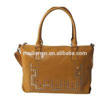 2015 New fashion Studs Satchel crossbody removable shoulder bag women bag