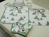 tea towel, apron, table cloth, place mat in kitchen sets