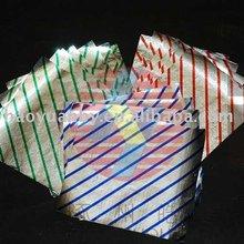 folded embossed alu foil for food packing
