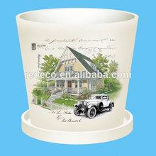 Big outdoor ceramic flower pot