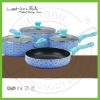New flower designs nonstick cookware set
