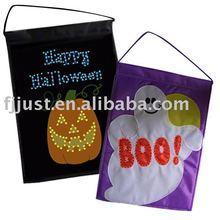 Led light halloween flag banner holiday decoration
