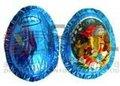 El embalaje del chocolate- azul huevo de pascua para material