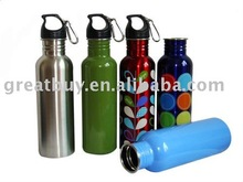 750ml BPA FREE wide mouth stainless steel sports water bottle