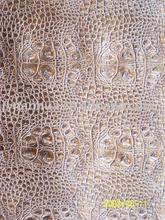 vaccum embossed,pinted,crocodile sofa leather
