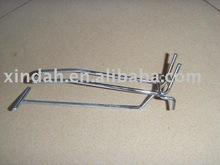 S73F0303 metal wire slat wall display hook for supermarket