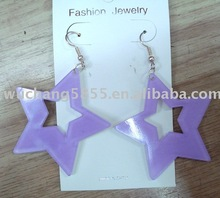 iron paint color earring